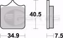Braking CM66 Bremsbeläge vorne für Brembo P4...