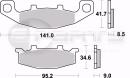 Braking CM56 Bremsbeläge hinten für Kawasaki...