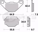 Braking SM1 Bremsbeläge hinten für Sachs ZZ 125...