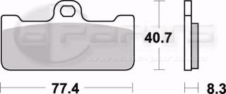 Braking CM55 Bremsbeläge vorne für Brembo P4 32/36 Race