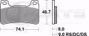 Braking CM55 Bremsbeläge vorne für Honda CBR...