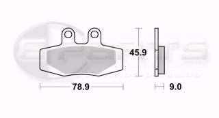 Braking SM1 Bremsbeläge hinten für Maico Alle Modelle (89-93)