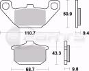 Braking SM1 Bremsbeläge hinten für Kawasaki Z...