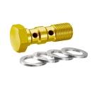 Doppelhohlschraube GOLD eloxiert M10x1,00 Aluminium inkl....